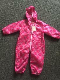 Bluezoo puddlesuit 12-18months New with tags
