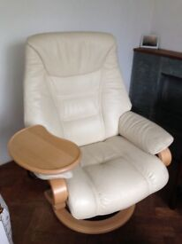 Quality white leather german chair