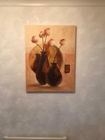 Two large canvass pictures