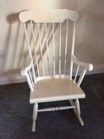 Cream rocking chair