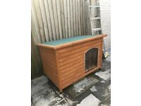 Insulated Wooden Dog House - Extra Large With Removable Floor