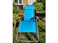 Matching pair of garden recliner chairs, as new NOW REDUCED