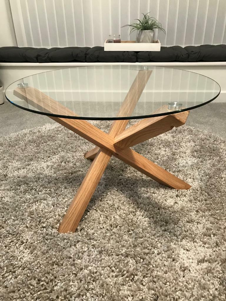 Round Cross Leg Coffee Table