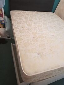 Kimg size bed and materess