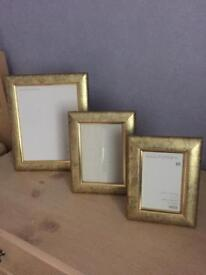 Set Of 3 Wooden Photo Frames - (M&S)