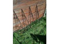 Wrought iron brackets x4 pieces
