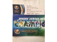 ***CHEAPEST PRICE FOR QUICK SALE***1 X GOLD ICC CHAMPIONS FINAL TICKET AT OVAL INDIA VS PAKISTAN
