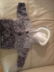 Unisex fleece coat and baby boy fleece cardi