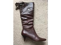 Brown leather boots from Dune