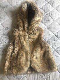 Girls faux fur gilet