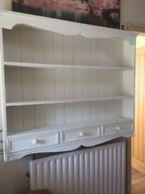 Pine dresser top/wall shelf unit