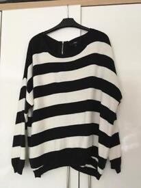 NEXT 3/4 sleeve jumper zip at back