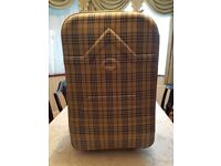 Checked suitcase VG condition