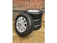 """Like New-VW 16"""" Clayton Alloy Wheels and Hankook Radial RA28E tyres (Transporter T5, T6 or T6.1)"""