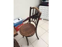 Antique Dining table and set of 4 chairs dining table