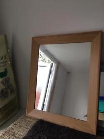 Wooden Veneer Framed Mirror