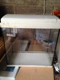 Small fish tank aquarium vivarium