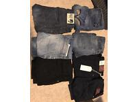 Men's jeans in very good condition designer diesel etc 7 pairs