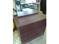 Stylish chest of draws with mirror for sale