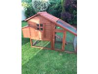 Large chicken coop with run
