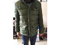 Green Jack Wills jacket. Size medium.