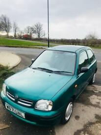 NISSAN MICRA PROFILE 1litre 16V COMES WITH MARCH 2018 MOT, ONLY DONE 59K MILES