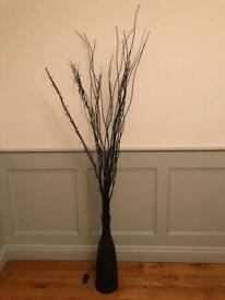 Large black case and sticks