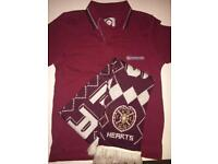 BNWT Boys Maroon Lambretta Polo Shirt & HMFC Football Scarf New RRP £30