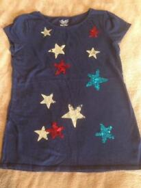 Girl's stars t-shirt Old Navy Age 14