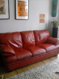 2 seater and 3 seater leather settees for sale.