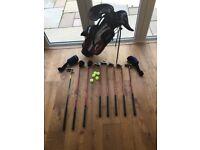 Slazenger junior golf clubs and case