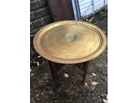 Indian brass top drinks table
