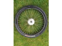 Alexrims Wheel 559 X 6061H - T6 DH20 with Resolutio Tyre & Shimano gear component FH - M475 VLAM