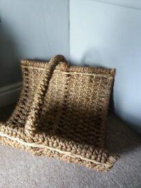 Laura Ashley Wicker Log/Kindling Basket