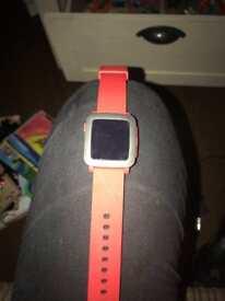 Red Pebble Unisex Smart Watch