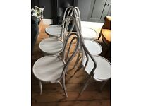 6x bentwood style chairs in white originally from Conran store