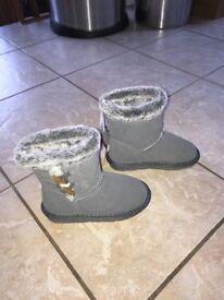 Size 10 girls NEW unworn Sainsbury's fur boots