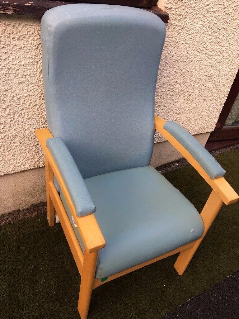 CAN POST High Back Chair Ergonomic Elder Orthopaedic Pressure Relieving Cushion Arm Wheel