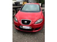 07 SEAT ALTEA 1.6 Petrol (BSE) Manual 5speed RED (LS3H) BREAKING for parts