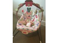 Fisher Price Pink Girls Bouncer Comfy Time