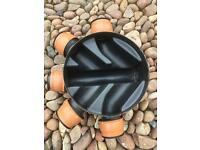 Plastic 5 inlet Manhole/inspection chamber cover and frame