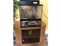 Exo Terra Glass Terrarium - 45x45x45cm Reptile & Amphibian Enclosure with stand