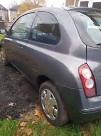 Nissan Micra 1.2 petrol 3 doors Grey color