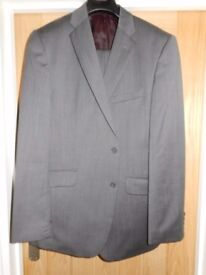 M&S Pure wool mid grey suit