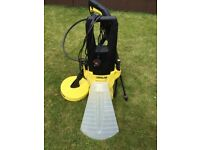 Karcher K2 125 pressure washer 2 years old with brand new hose & attachments included
