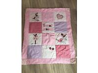 Girls cotbed bumper and quilt set