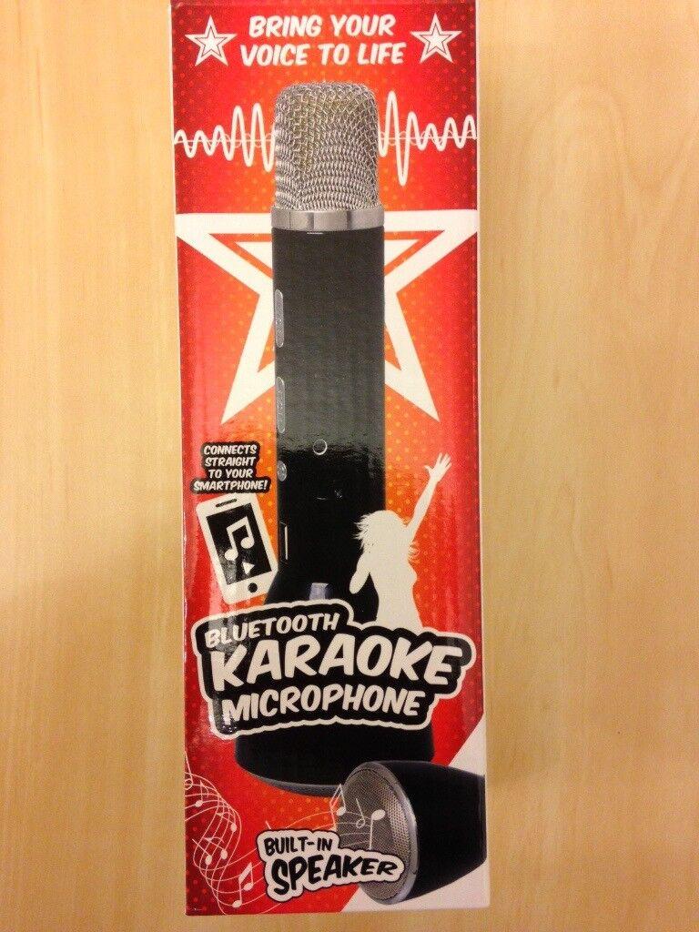 Karaoke microphone (bluetooth). Like new! only used once
