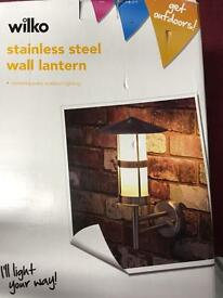 Brand new Stainless steel wall lantern