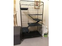 Large Rat Cage, Accessories & over 30L of Bedding