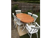 Ducal extendible dining table and six chairs